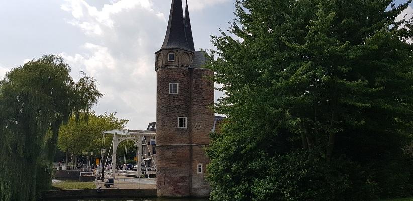 Wandelen in Delfland in Centrum Delft bij de Oostpoort