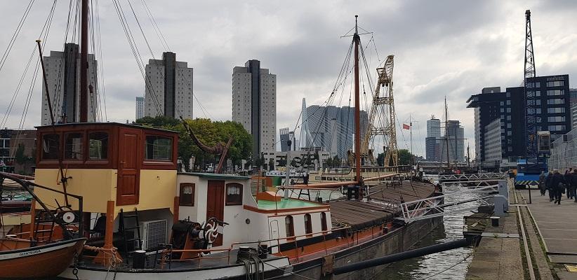 Leuvehaven tijdens wandeling Creative Crosswalks Rotterdam