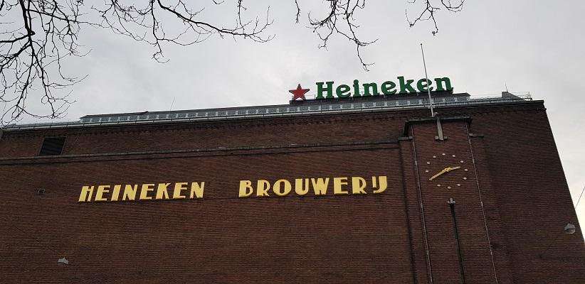 Wandeling ten westen van de Amstel in Amsterdam bij de Heineken Brouwerijen
