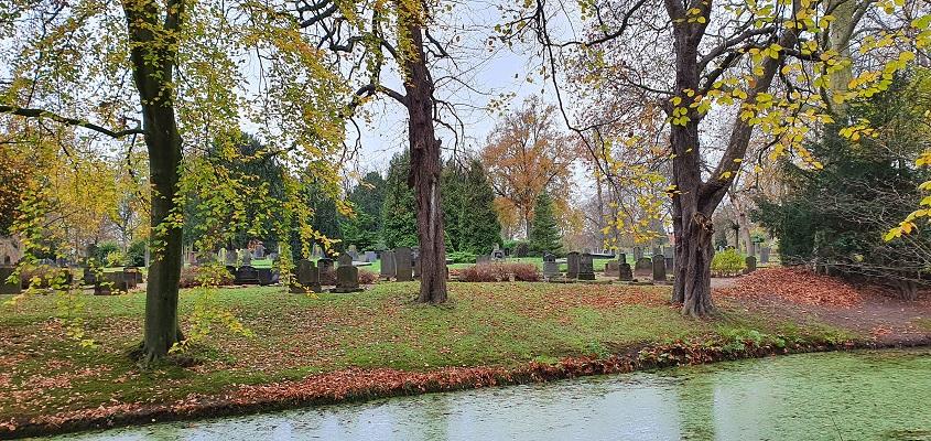 Wandeling over Stadse Trage Tocht Zutphen bij oude begraafplaats