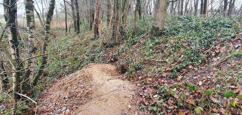 Wandeling over ommetje Sint Hubert bij dassenburcht op het Duits Lijntje
