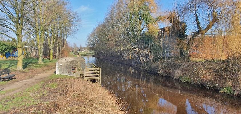 Wandeling over Trage Tocht Mill bij het Peelkanaal