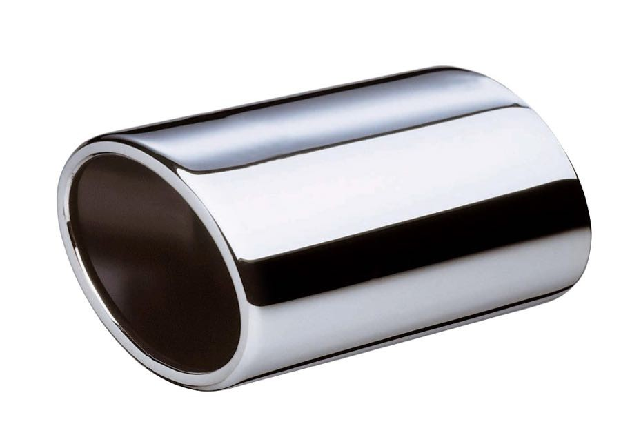stainless steel exhaust tip cossie oval 50mm 60mm