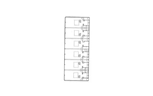 Plan des triplex en bande du bâtiment 7 : Aménagement d'un