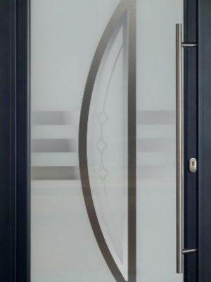AMC Fenêtres : porte aluminium opale