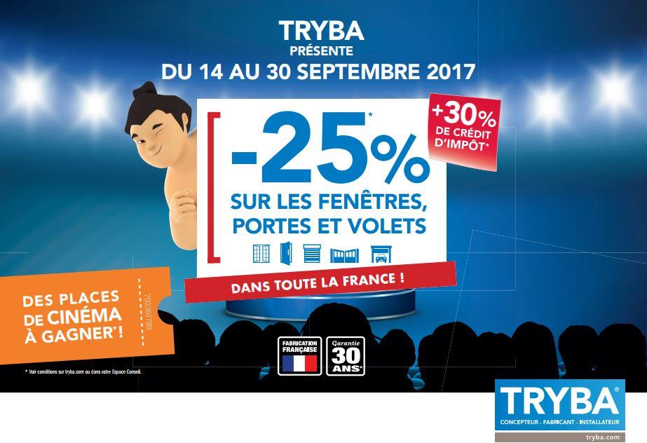AMC Fenêtres TRYBA : -25% sur les fenêtres, portes & volets