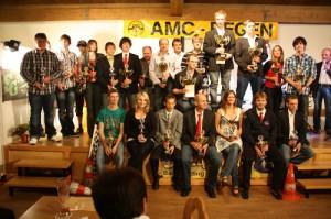 Siegerehrung ADAC-Städte-Slalom-Pokal-2010 - 40 Jahre AMC Regen e.V. im ADAC