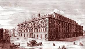 Veduta storica di Palazzo Spada