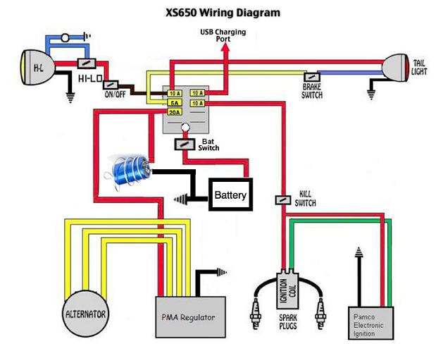 yamaha xs650 wiring diagram wiring diagram xs650 chopper wiring diagrams