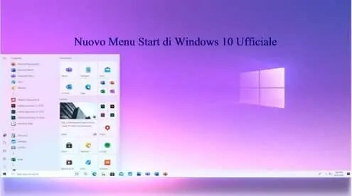 Nuovo Menu Start di Windows 10 Ufficiale