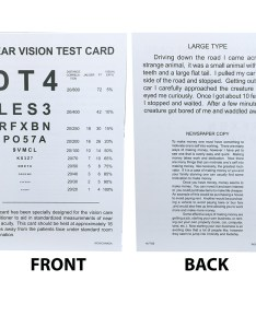 Related product near vision test card also spanish eye cards  charts assessment rh amconlabs
