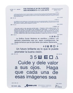 Spanish near vision test card also eye cards  charts assessment rh amconlabs