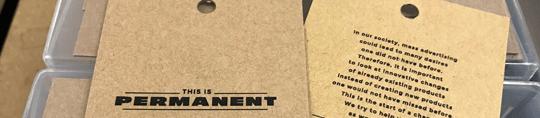 External T-Shirt Nape Screen Print