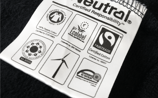 Organic Printed Hoodie Certification Label