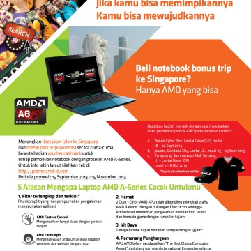 AMD Gelar Roadshow di 3 Kota Besar Mulai 18 September Hingga 6 Oktober 2013