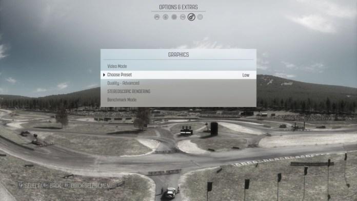 Dirt Rally Resolusi Quad HD Asus N551ZU Set Low