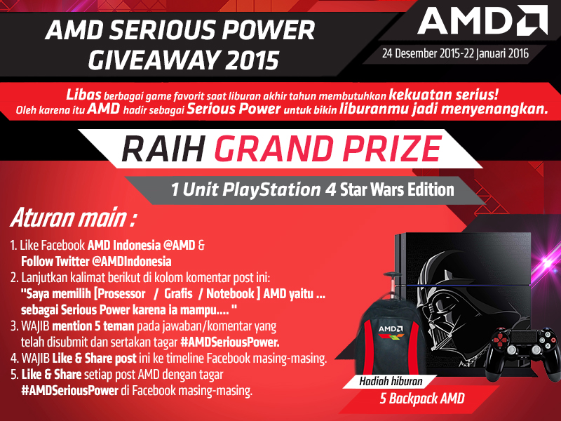 Tata Cara AMD Serious Power Giveaway