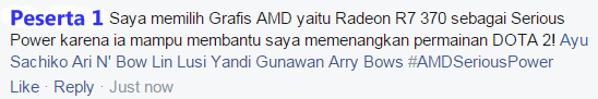 Contoh AMD Serious Power Giveaway