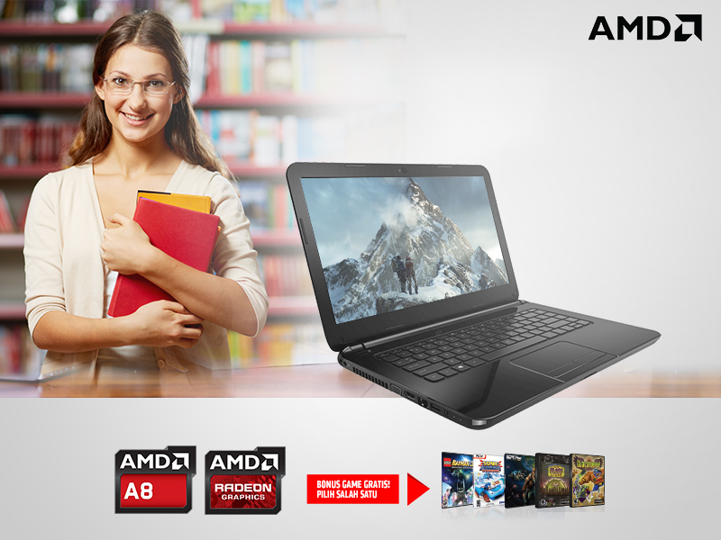 Back to Campus Promo GAME GRATIS notebook AMD APU A8
