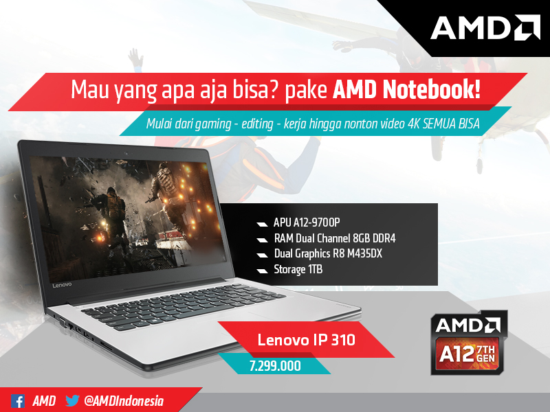 Rekomendasi AMD Notebook 2017