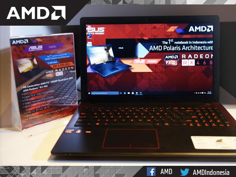 Asus X550IU Notebook Gaming Arsitektur Polaris