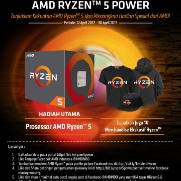Giveaway Show The AMD Ryzen 5 Power