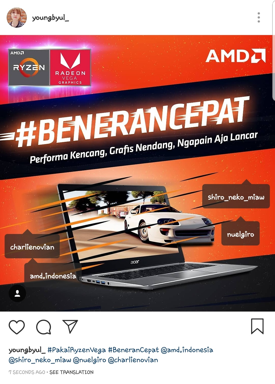 Contoh Upload Instagram #BeneranCepat