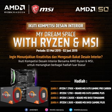 "Kompetisi Desain Interior ""My Dream Space with Ryzen"""