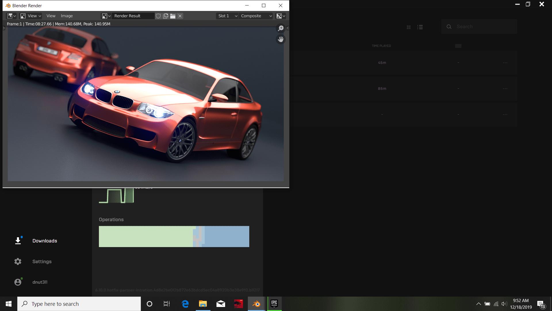 Blender BMW Scene MSI Alpha 15