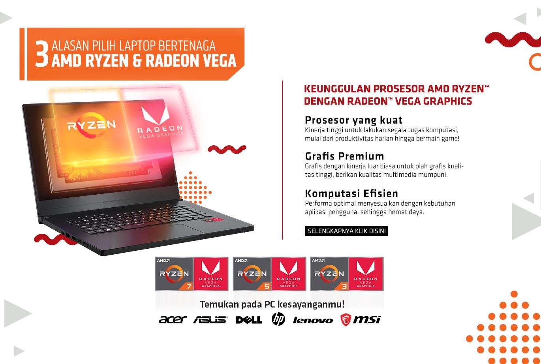 Alasan Pilih Laptop Bertenaga Ryzen