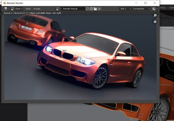Pengujian Blender BMW