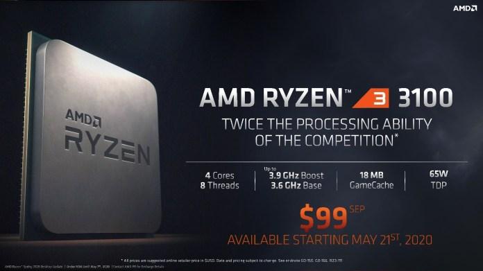 Spesifikasi Ryzen 3 3100