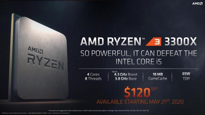 Spesifikasi Ryzen 3 3300X