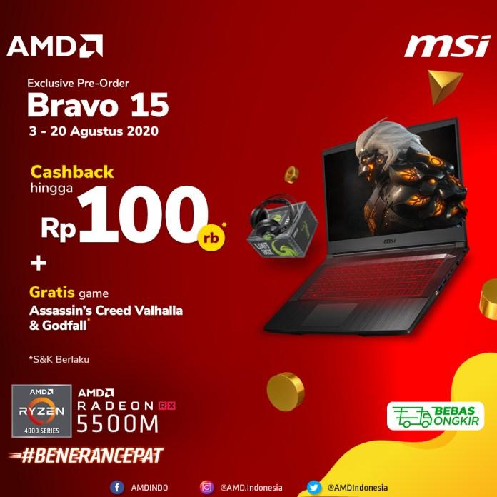 Promo Cashback MSI Bravo 15