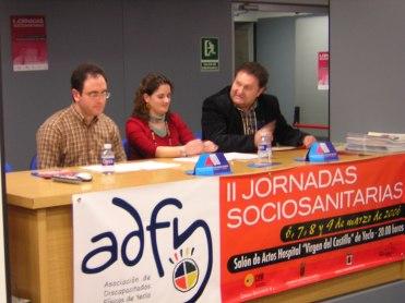 Jornadas sociosanitarias Yecla fisio y t. social Amdem