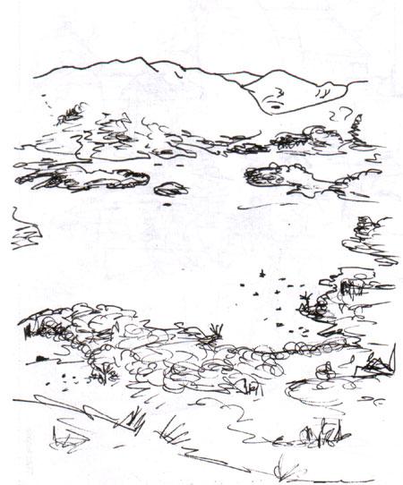 Loch Lomond from a hill