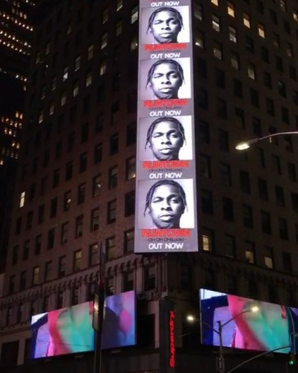 Runtown's Billboard Spotted In Times Square (2)