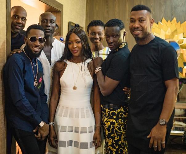 D'Banj Meets Naomi Campbell In Accra