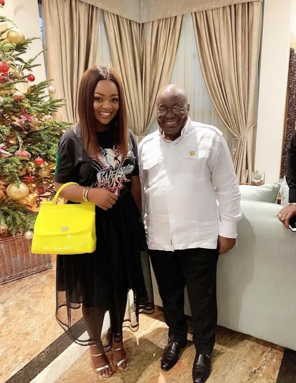 Jackie Appiah Poses With Akufo-Addo New Year