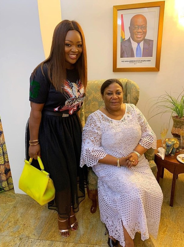 Jackie Appiah Poses With First Lady of Ghana Rebecca