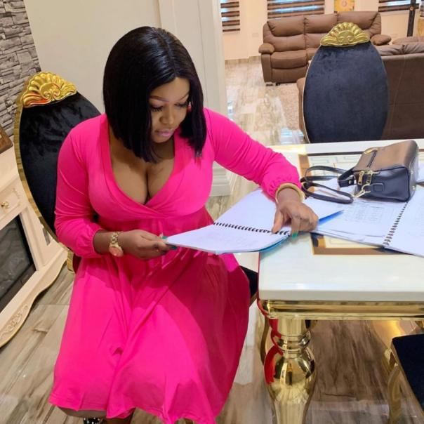 Ruth Kadiri Carries Newborn Baby And Heads To Dubai