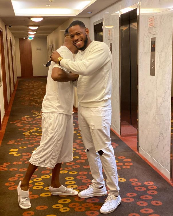 Frodd And Charles Okocha Pose Together In Dubai (3)