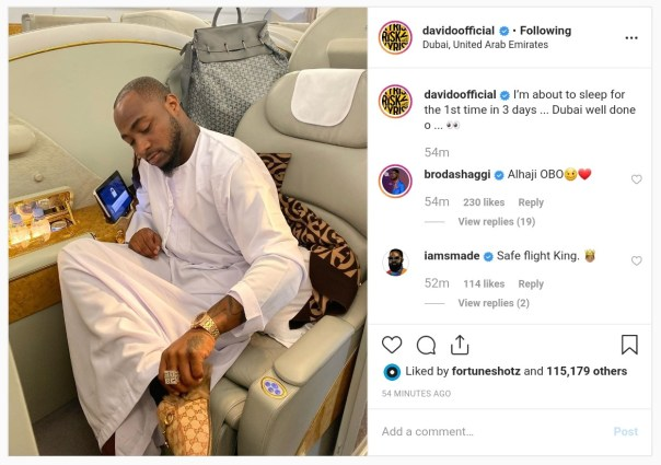 Davido Hasn't Slept In 3 Days (3)