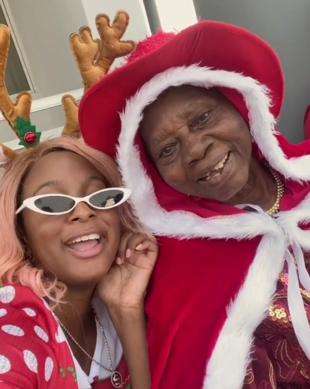 DJ Cuppy And Grandma Vibe To Gelato To Celebrate Christmas (2)