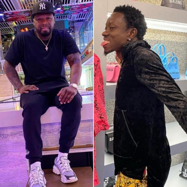 Michael Blackson Mocks 50 Cent Over Tit*#es Photo