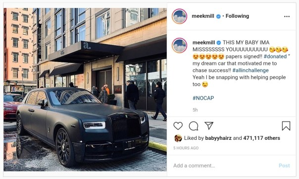 Meek Mill Donates Rolls Royce Phantom For COVID-19 Fundraiser (2)