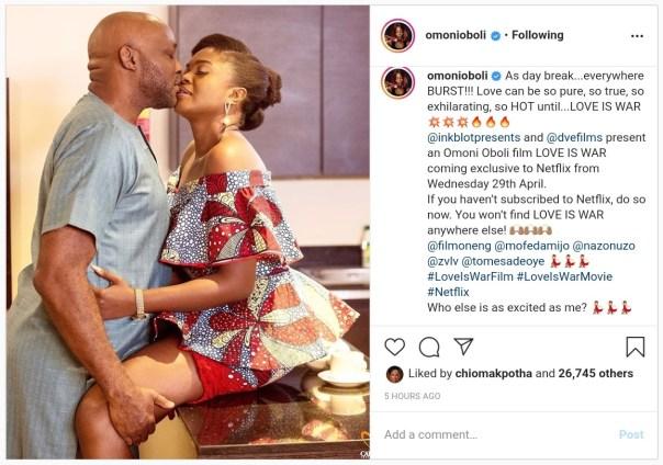 Omoni Oboli And RMD Lock Lips Love Is War