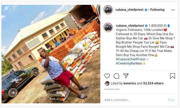 Cubana Chief Priest Shades Big Brother Naija Housemates (2)