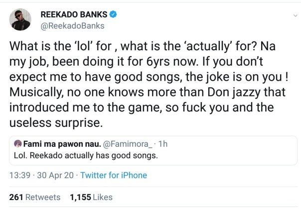 Musically No One Knows More Than Don jazzy Reekado Banks (2)