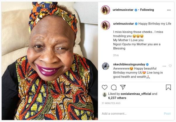 Uriel Oputa Wishes Mother Happy Birthday (2)